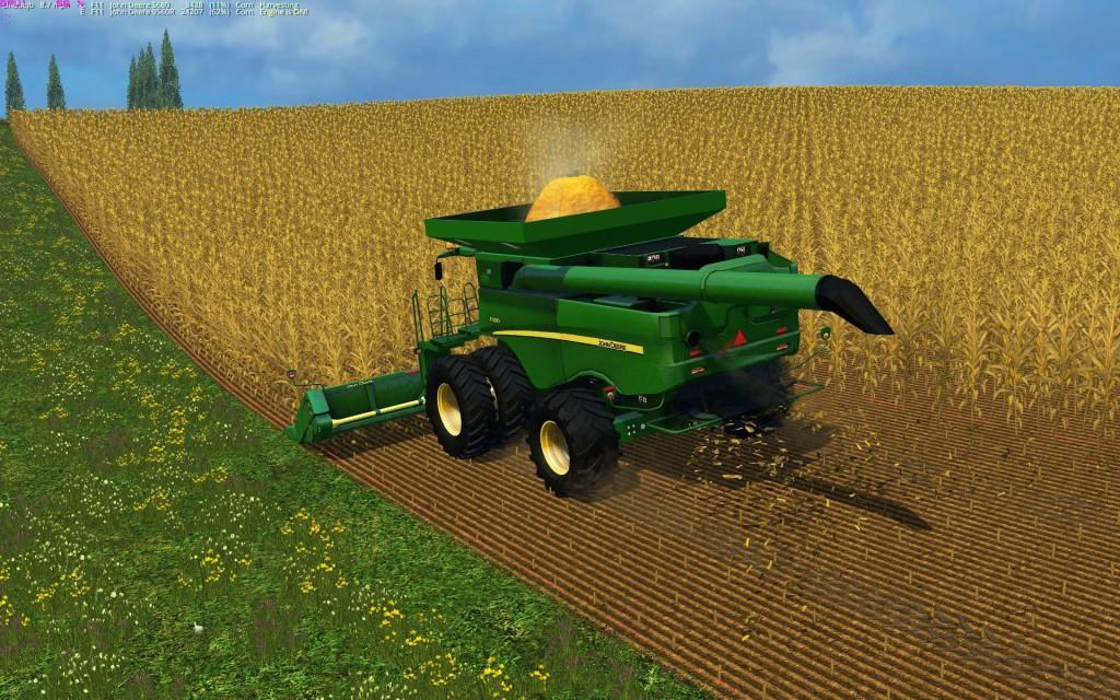 John Deere S690i JBK v1 0 mod for Farming Simulator 2015
