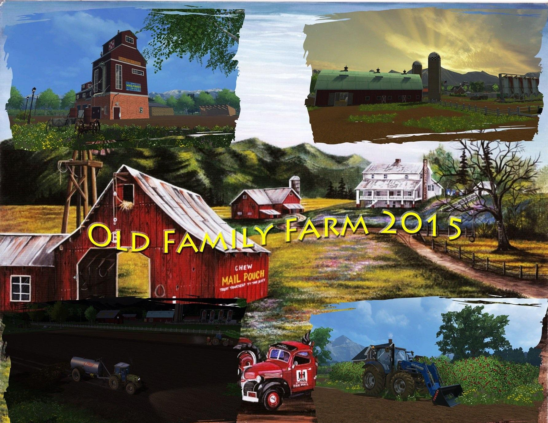 Old Family Farm Map v 1 0 mod for Farming Simulator 2015