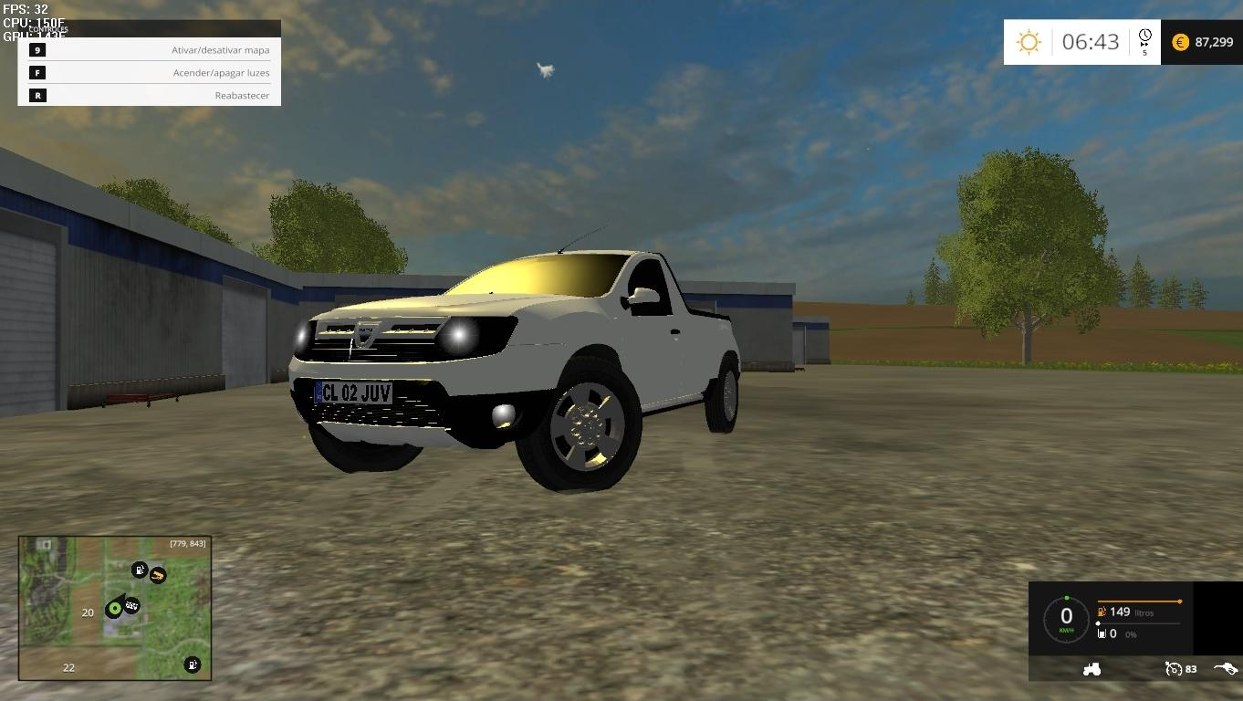 dacia duster pickup 2014 v1 0 mod for farming simulator 2015. Black Bedroom Furniture Sets. Home Design Ideas