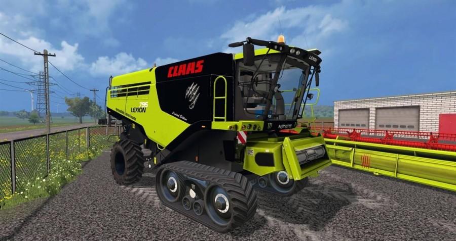 claas lexion 795 v1 0 mod for farming simulator 2015. Black Bedroom Furniture Sets. Home Design Ideas