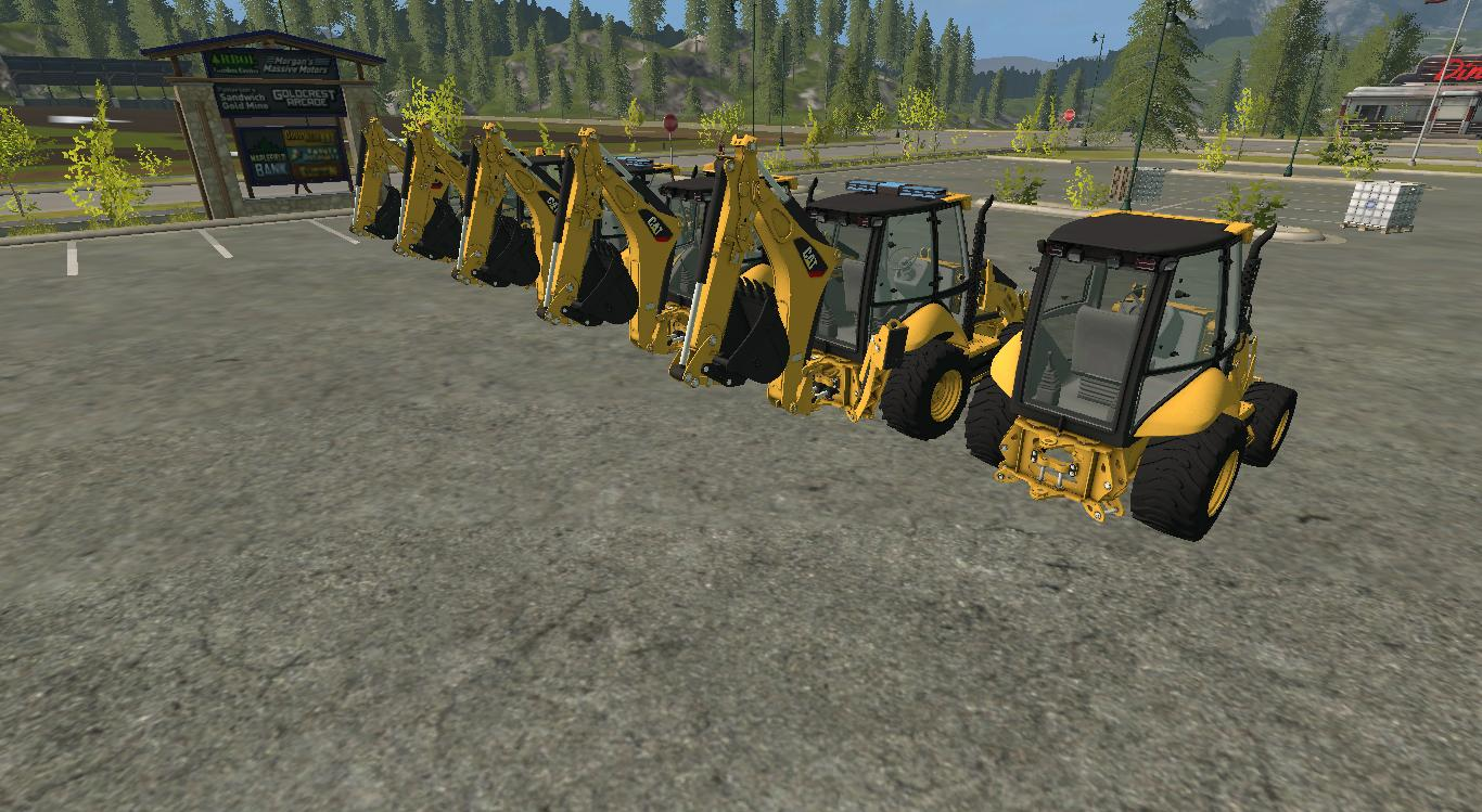 CAT Backhoe 420F v1 0